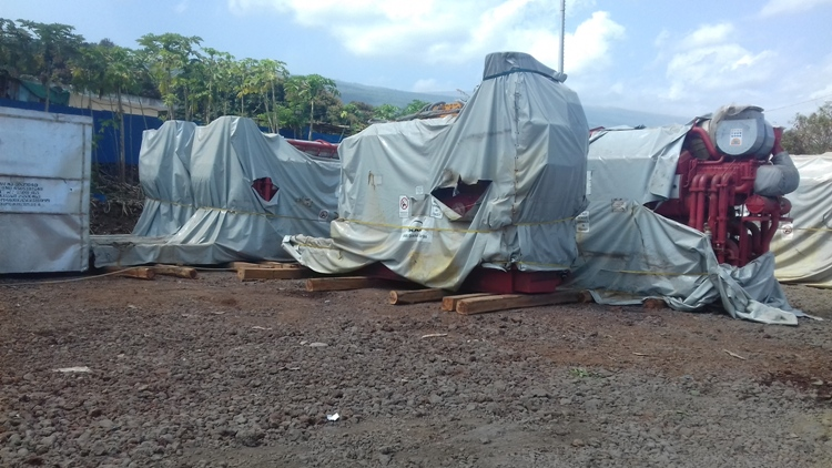Fuel lourd : cinq groupes de dix-huit mégawatts réceptionnés à Vwadju